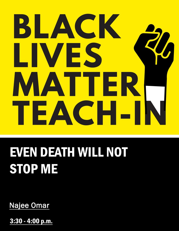 BLM Teach-In Flyer 8.5x11.indd